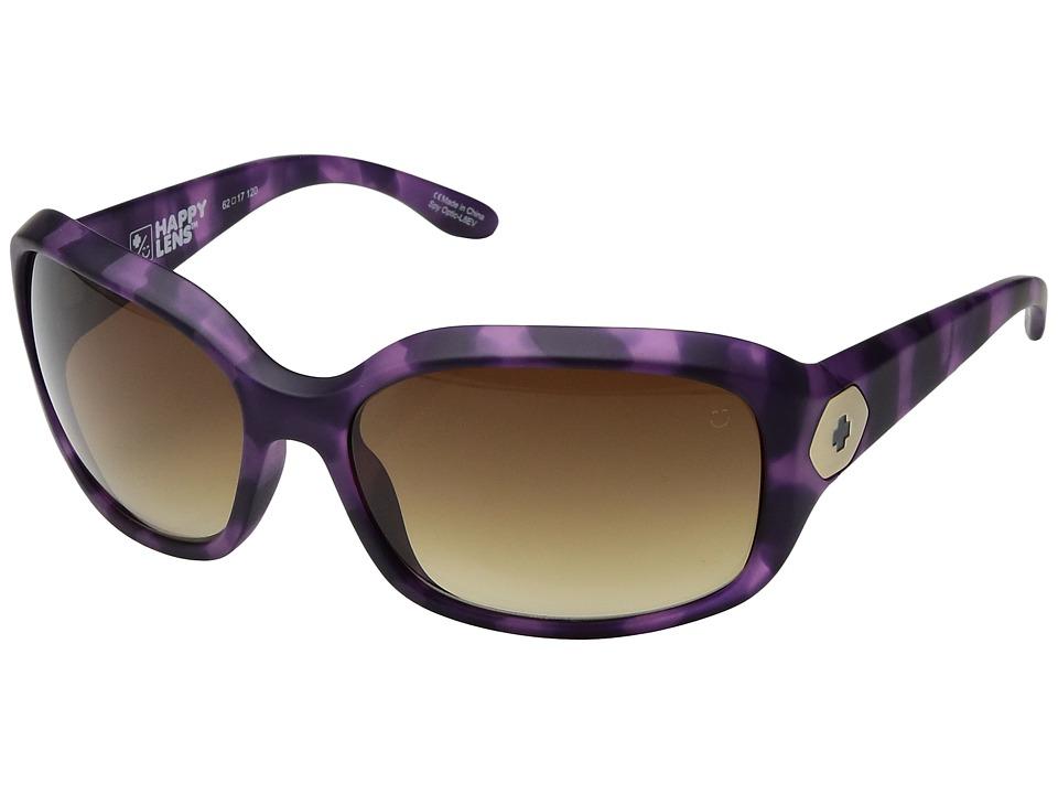 Spy Optic - Bonnie (Soft Matte Purple Tort/Happy Bronze Fade) Sport Sunglasses