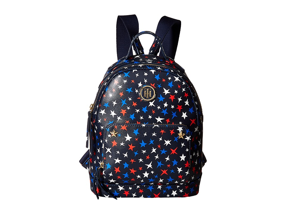 Tommy Hilfiger - Emmeline Multi Star PVC Backpack (Navy/Multi) Backpack Bags