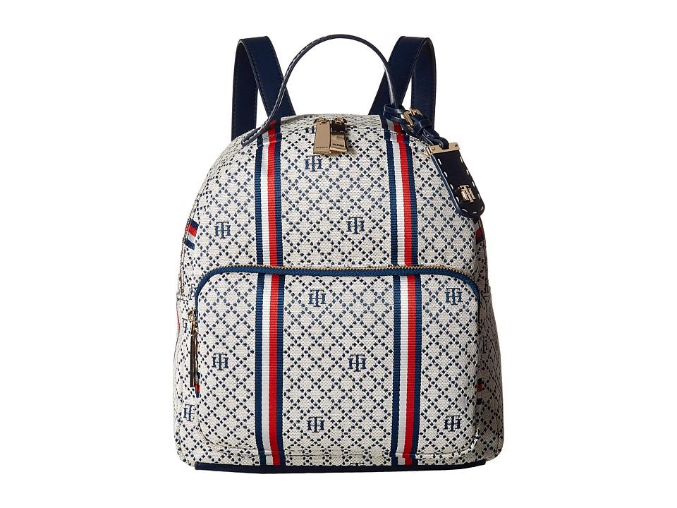 Tommy Hilfiger - Julia Dome Backpack (Navy/Natural) Backpack Bags