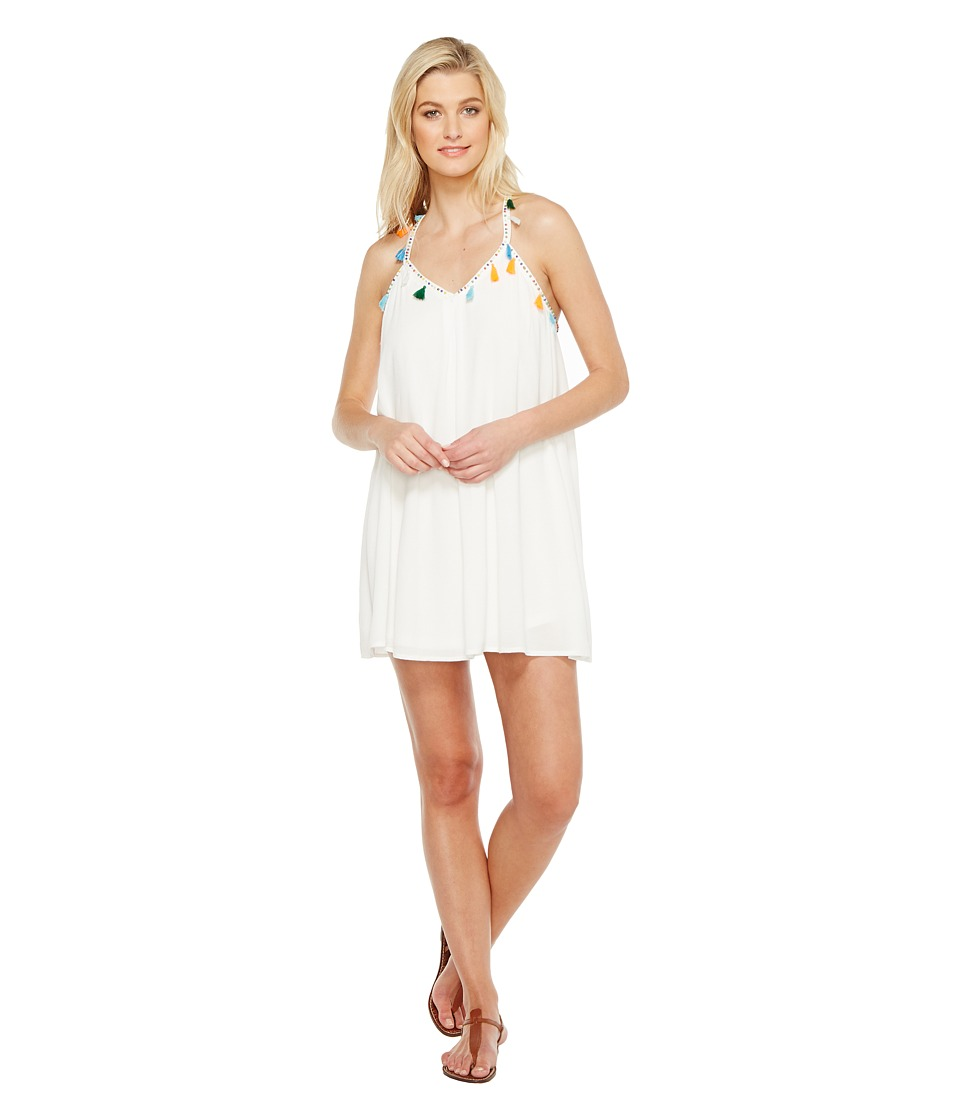 Brigitte Bailey - Jean Spaghetti Strap Dress with Tassels (Off-White) Women's Dress