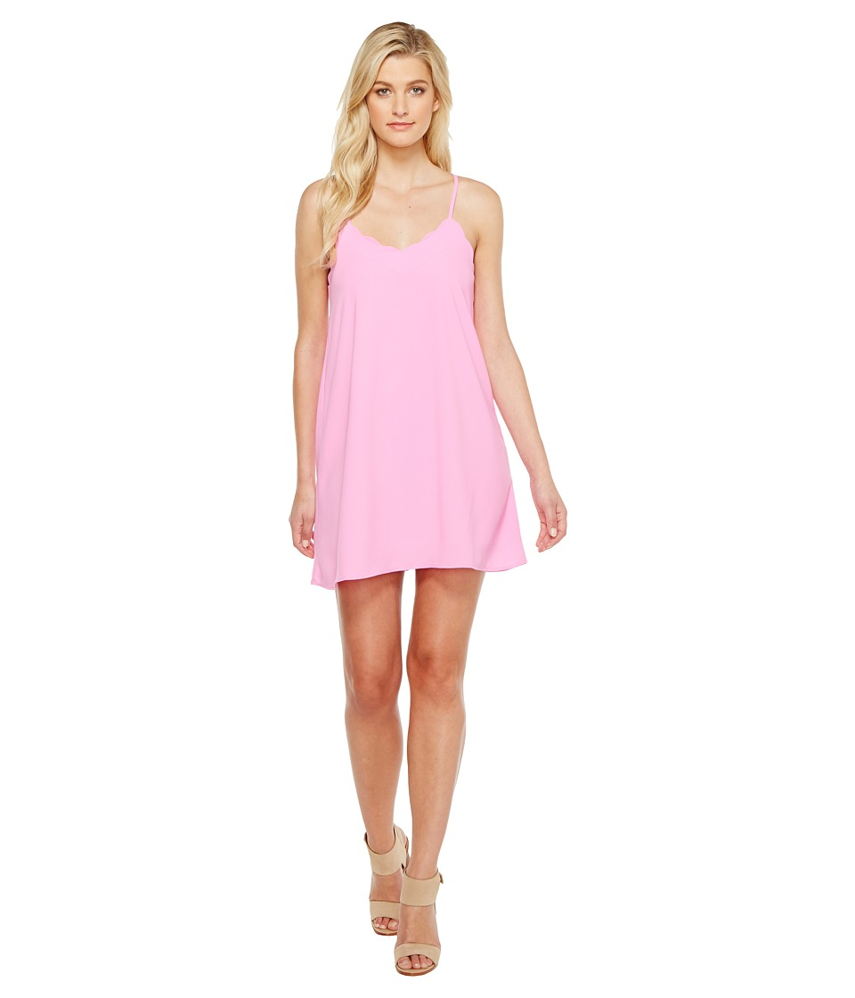 Brigitte Bailey - Mya Spaghetti Strap Scalloped Hem Dress (Hot Pink) Women's Dress