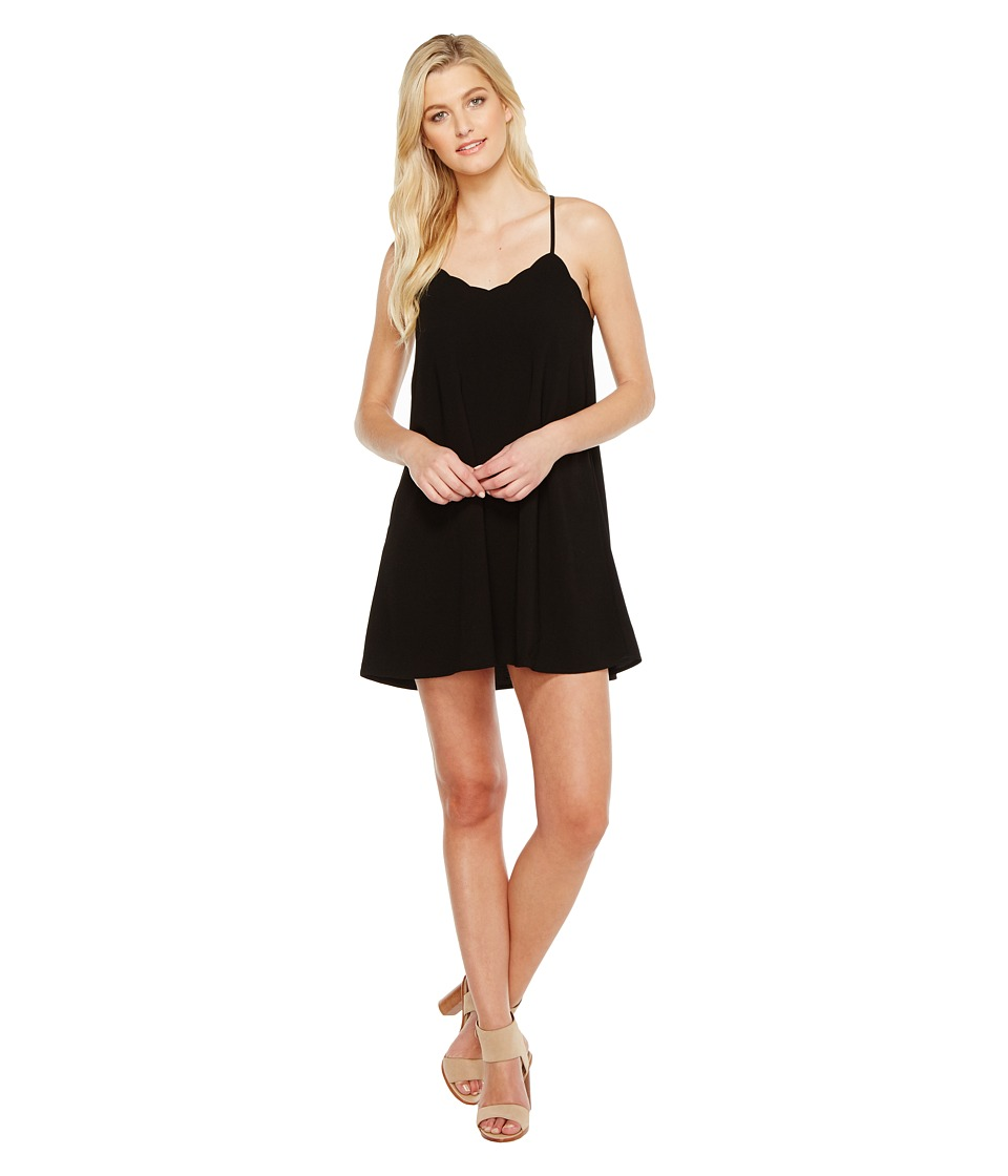 Brigitte Bailey - Mya Spaghetti Strap Scalloped Hem Dress (Black) Women's Dress