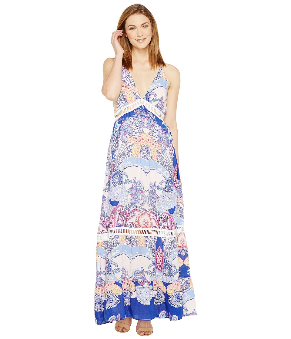 Brigitte Bailey - Shaleen Spaghetti Strap Maxi Dress with Lace Inset (Light Pink/Multi) Women's Dress
