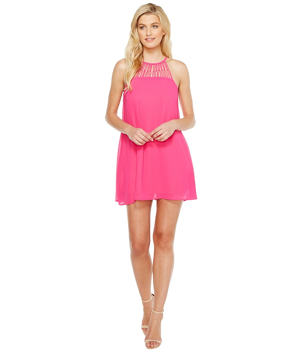 Brigitte Bailey - Dorri High Neck Strappy Dress (Fuchsia) Women's Dress