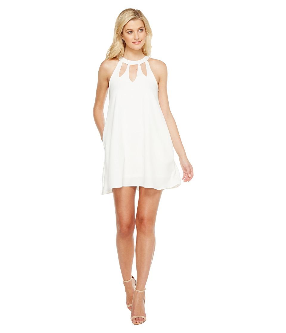 Brigitte Bailey - Ashly High Neck Cut Out Dress (Off-White) Women's Dress