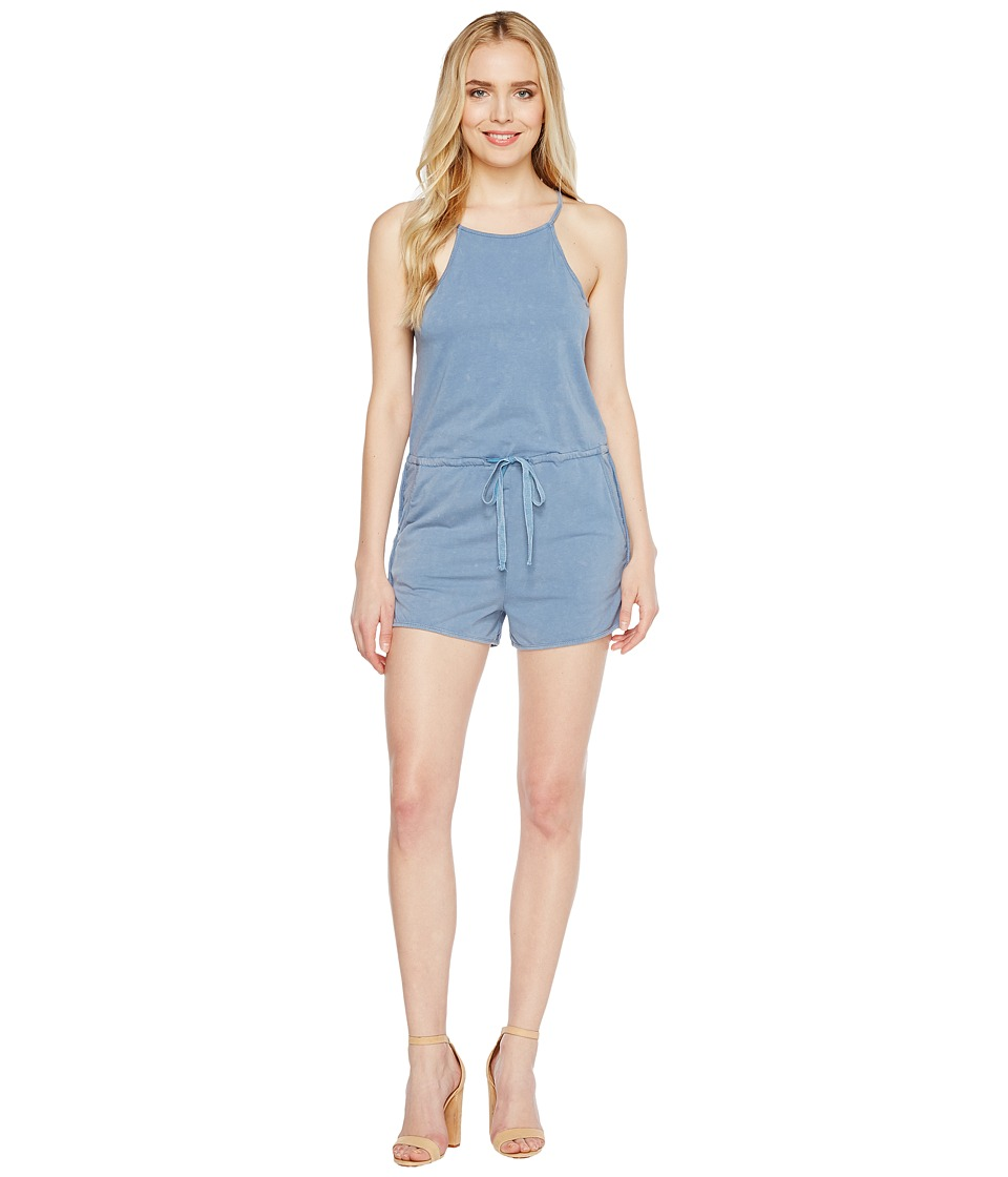 Culture Phit - Ina Spaghetti Strap Drawstring Romper (Washed Denim) Women's Jumpsuit & Rompers One Piece