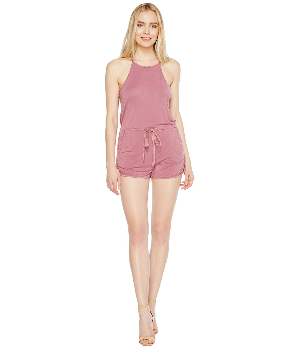Culture Phit - Ina Spaghetti Strap Drawstring Romper (Washed Rose) Women's Jumpsuit & Rompers One Piece