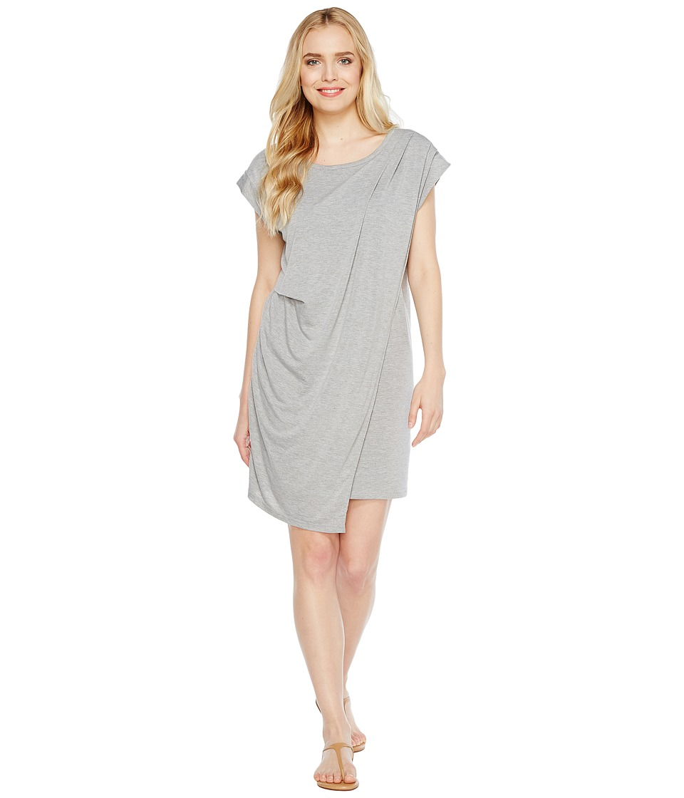 Culture Phit Addy Side-Cinched Cap Sleeve Dress (Heather Grey) Women