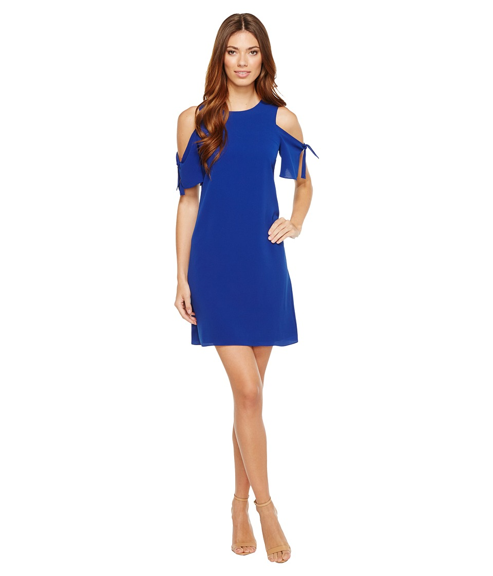 CeCe - Tie Sleeve Cold Shoulder Shift Dress (Midnight Rush) Women's Dress