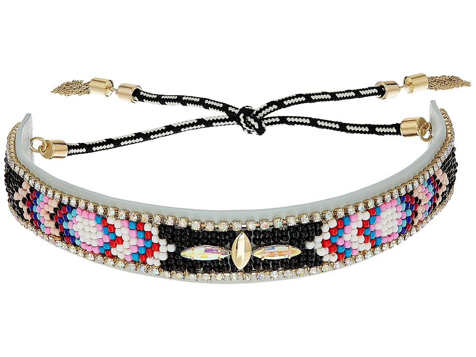 Rebecca Minkoff - Sparkler Seed Bead Choker (Black Multi) Necklace