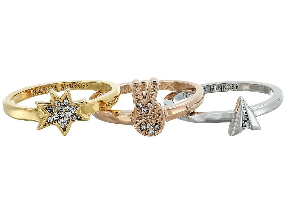 Rebecca Minkoff - Charm Ring Set (Mixed Metal) Ring