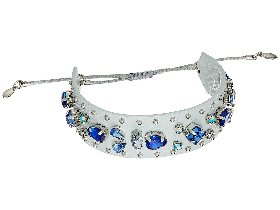 Rebecca Minkoff - Jeweled Guitar Strap Bracelet (Putty/Blue Multi) Bracelet