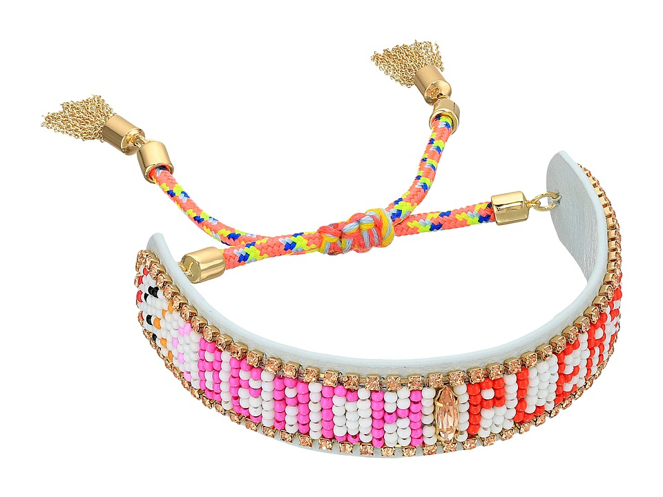 Rebecca Minkoff - Beach Please Seed Beaded Friendship Bracelet (White Multi) Bracelet