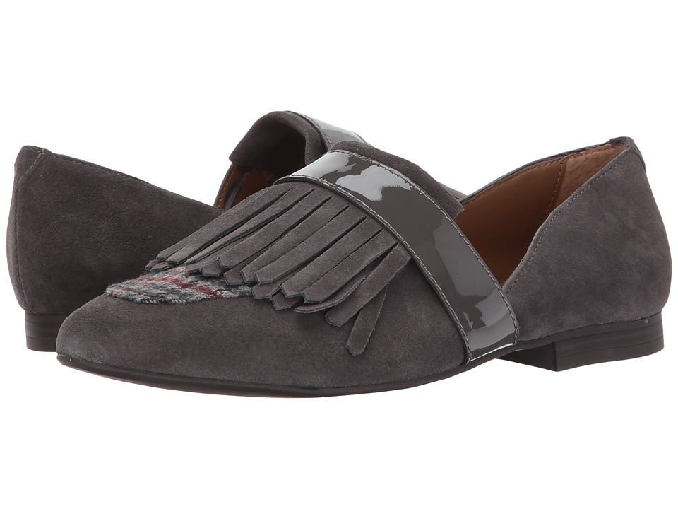 G.H. Bass & Co. Harlow (Charcoal/Charcoal Suede/Fabric/Patent) Women