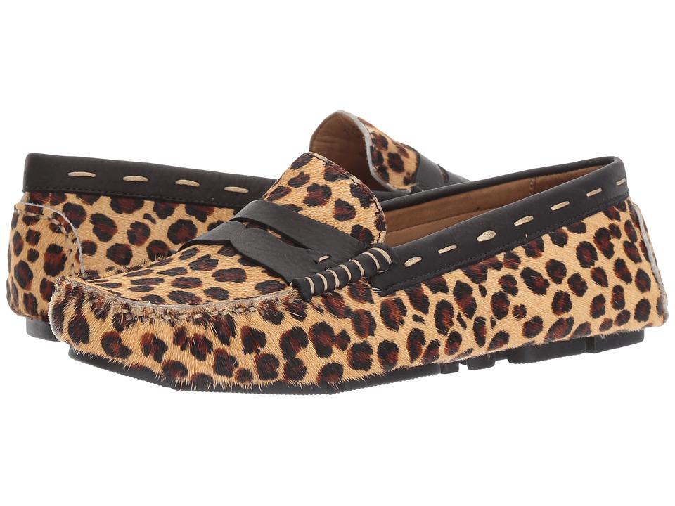 G.H. Bass & Co. Patricia (Leopard/Black Calf Hair/Leather) Women