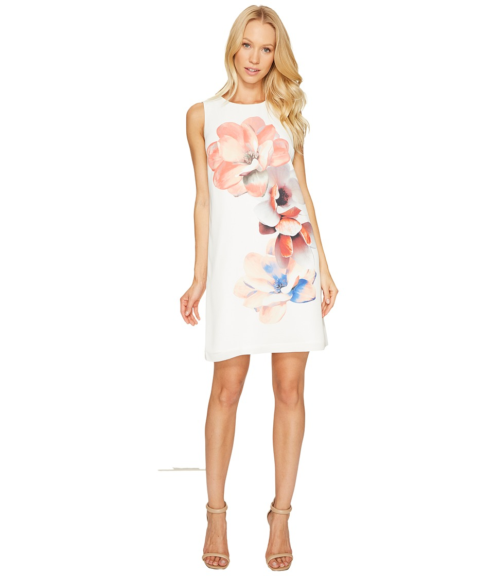 CeCe - Sleeveless Garden Bloom Shift Dress (New Ivory) Women's Dress