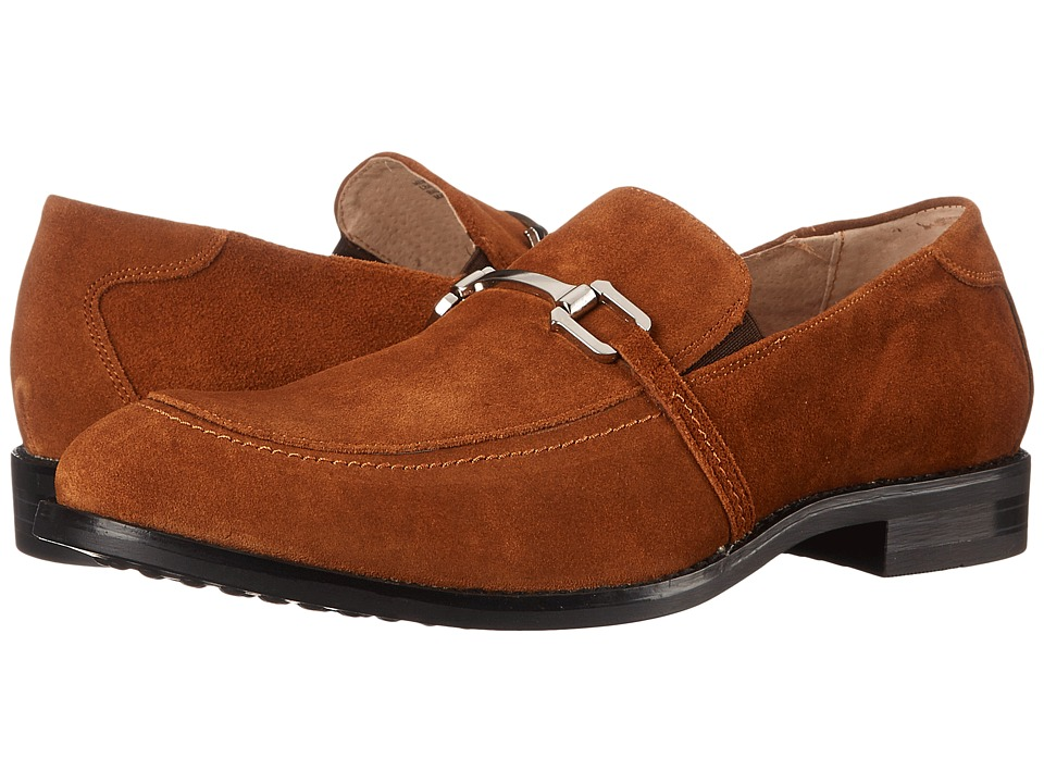 Stacy Adams - Gulliver (Camel) Men's Lace Up Moc Toe Shoes