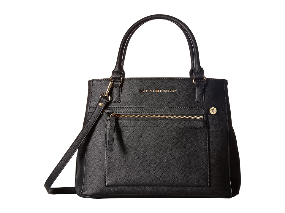 Tommy Hilfiger - Lani Convertible Tote (Black) Tote Handbags