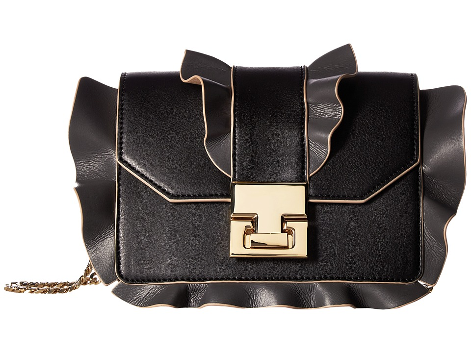 Ivanka Trump - Hopewell Mini Chain Crossbody (Black Ruffle 1) Cross Body Handbags