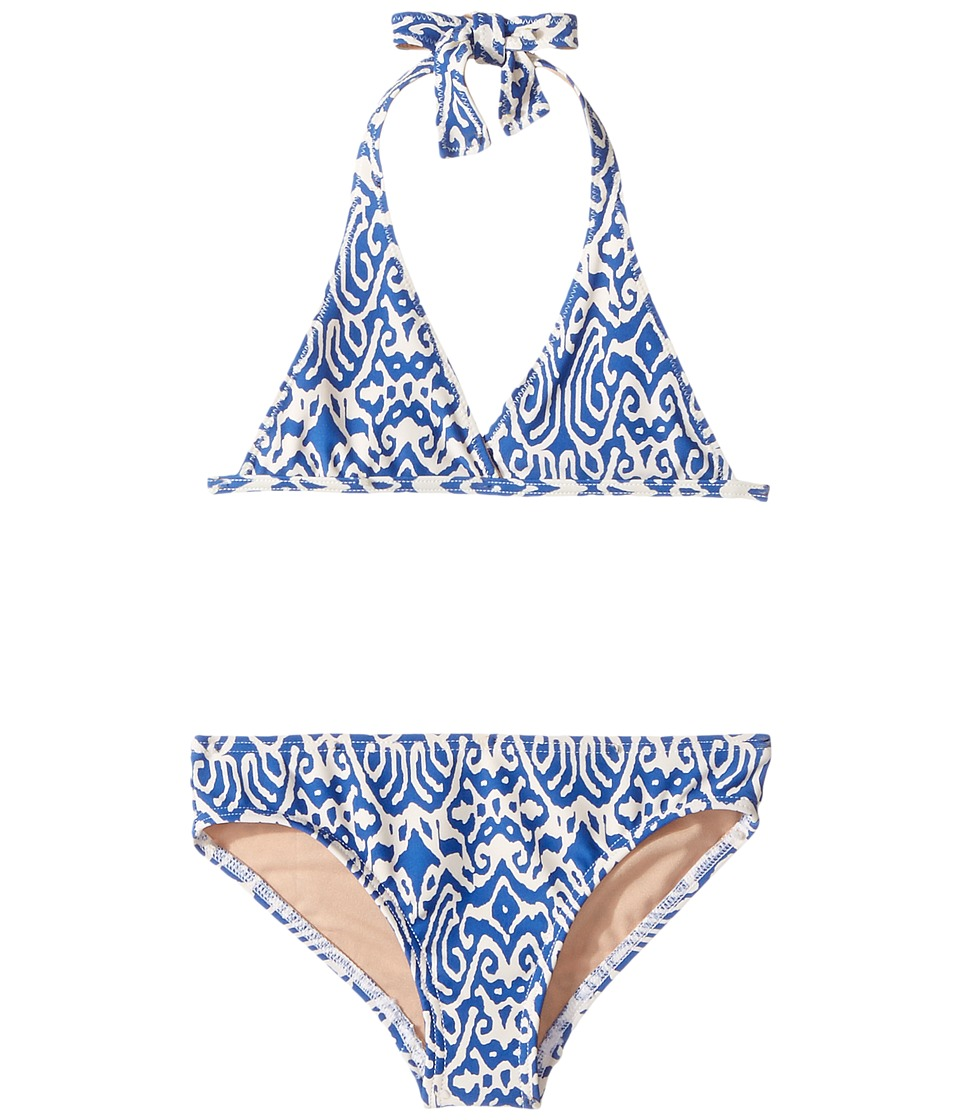 Toobydoo - Indie Blue Bikini (Infant/Little Kids/Big Kids) (Blue/White) Girl's Swimsuits One Piece