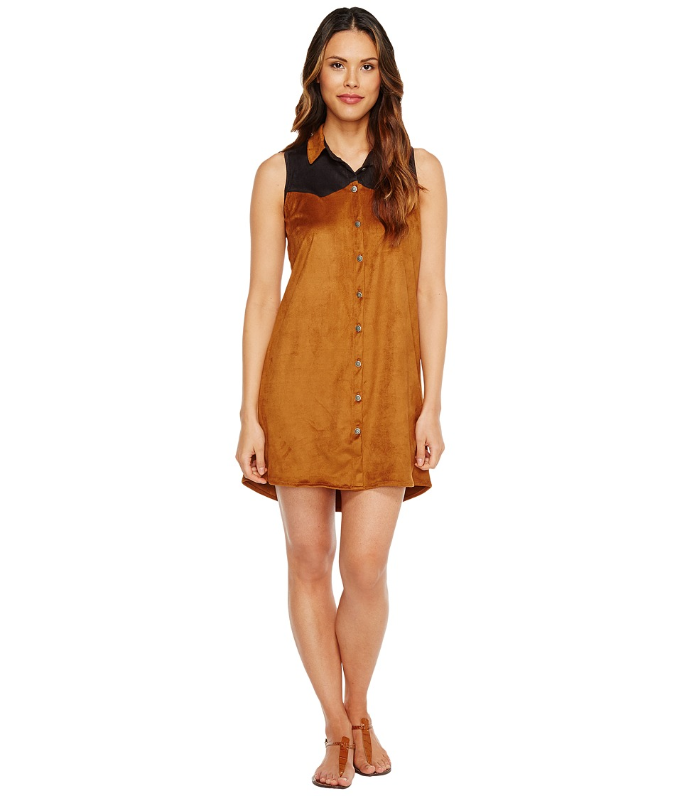 Tasha Polizzi - Cowgirl Shirtdress (Brown) Women's Dress