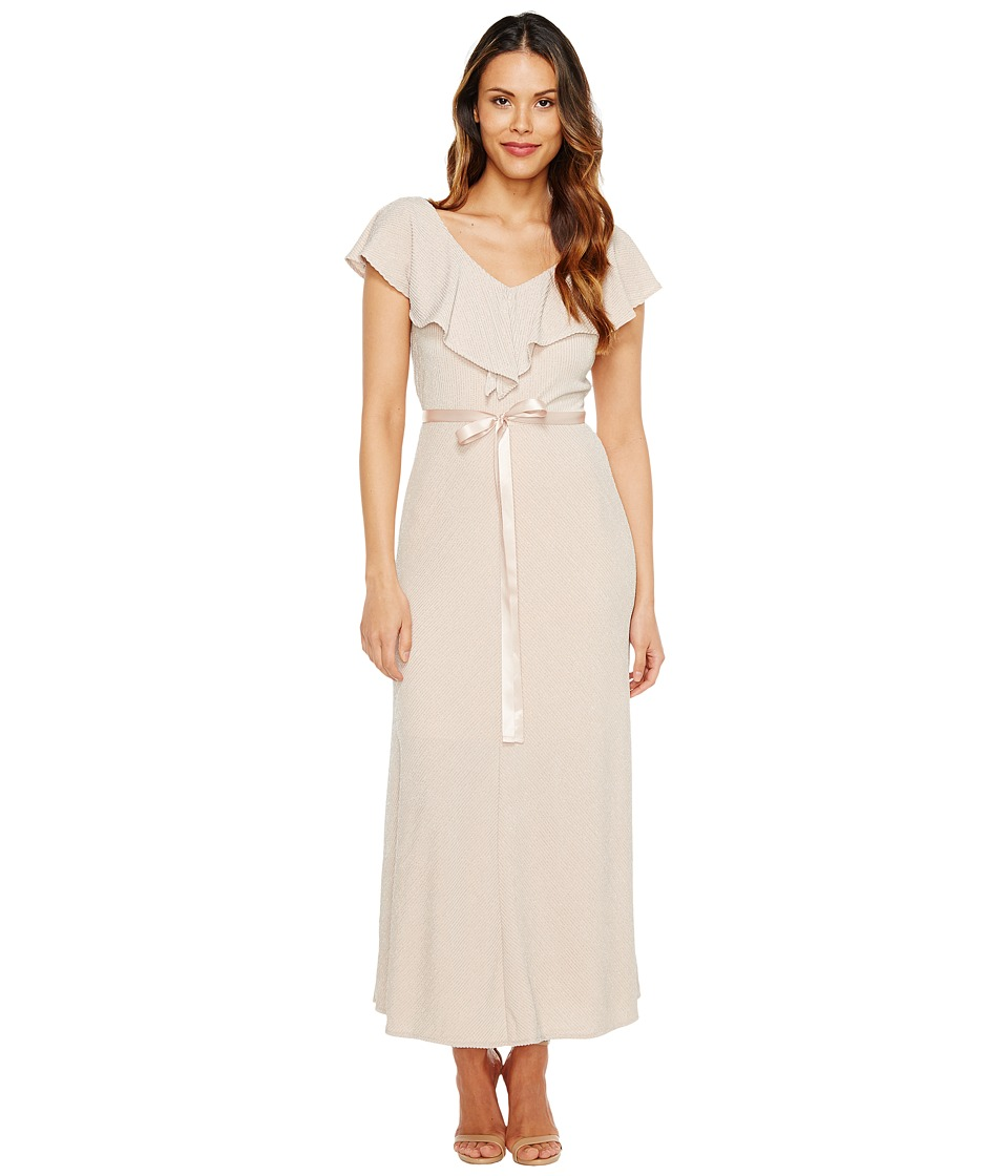 Taylor - Striped Glitter Mesh Maxi (Rose Blush) Women's Dress
