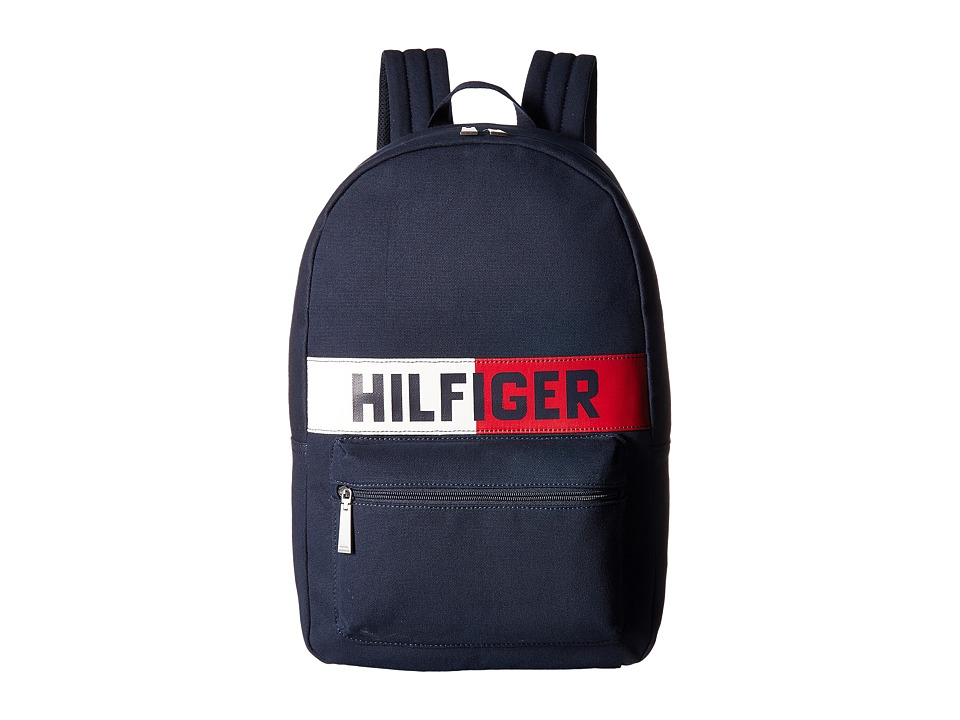 Tommy Hilfiger - Hilfiger Flag Canvas Backpack (Tommy Navy) Backpack Bags