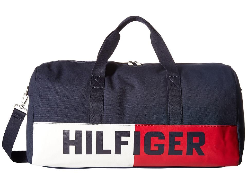 Tommy Hilfiger - Hilfiger Flag Canvas Duffel (Tommy Navy) Duffel Bags