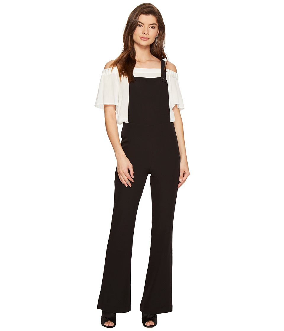 ROMEO & JULIET COUTURE - Bell Bottom Woven Jumpsuit (Black) Women's Jumpsuit & Rompers One Piece