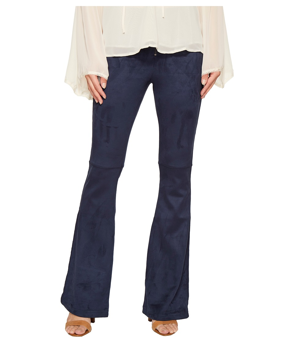 ROMEO & JULIET COUTURE - Bell Bottom Woven Pants (Navy) Women's Casual Pants