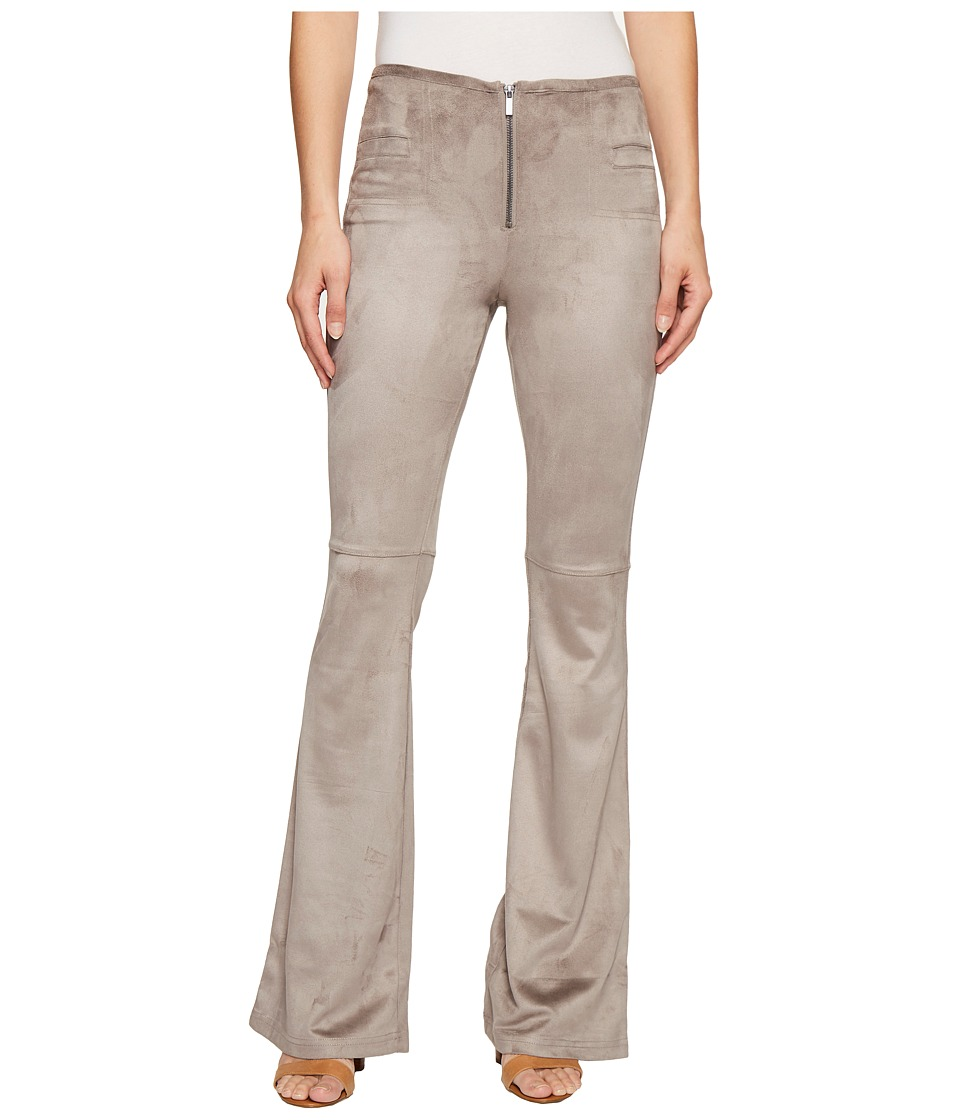 ROMEO & JULIET COUTURE - Bell Bottom Woven Pants (Taupe) Women's Casual Pants
