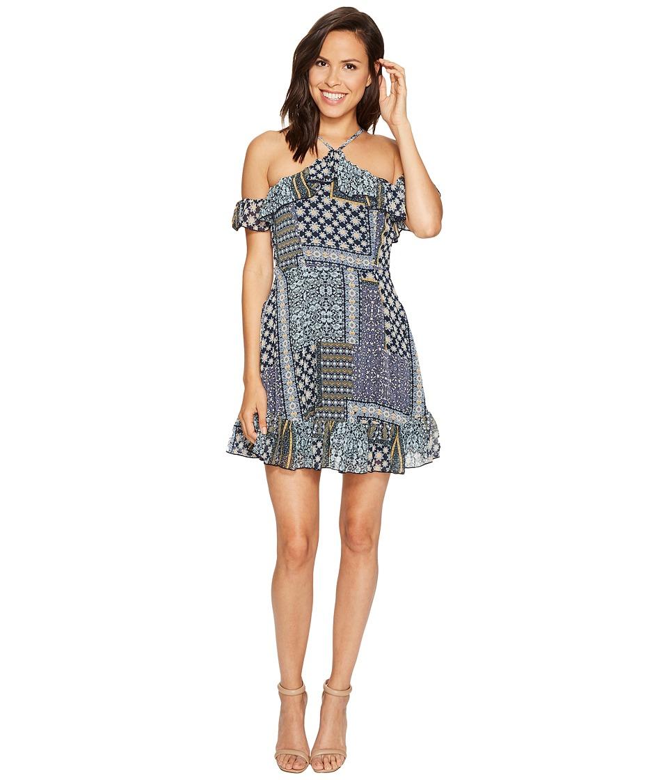 ROMEO & JULIET COUTURE - Sleeveless Off Shoulder Dress (Olive) Women's Dress