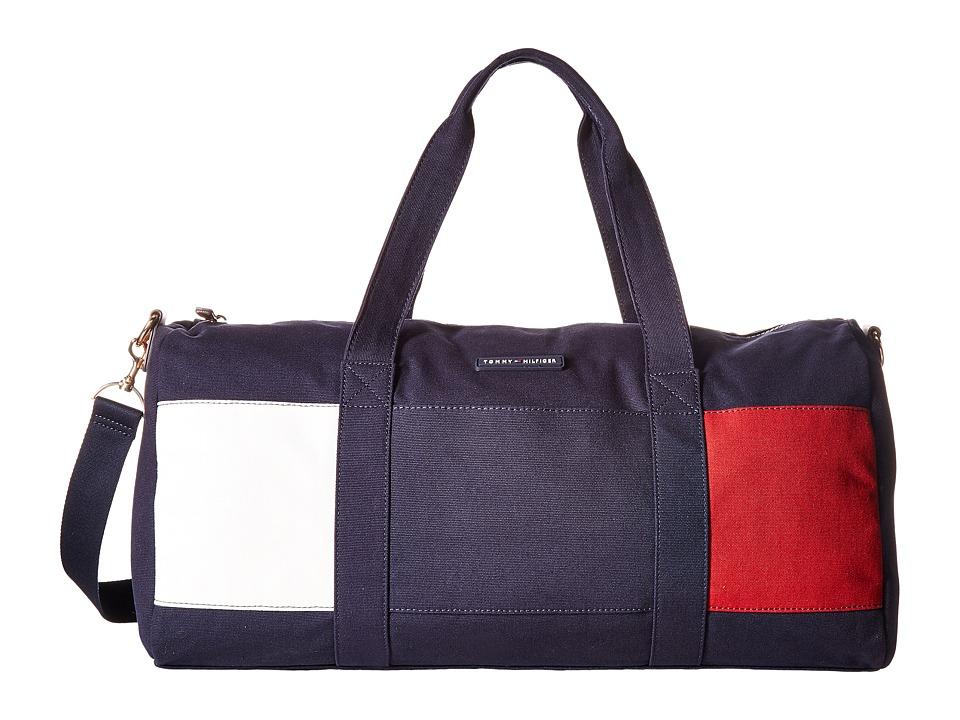 Tommy Hilfiger - TH Flag Canvas Duffel (Tommy Navy) Duffel Bags