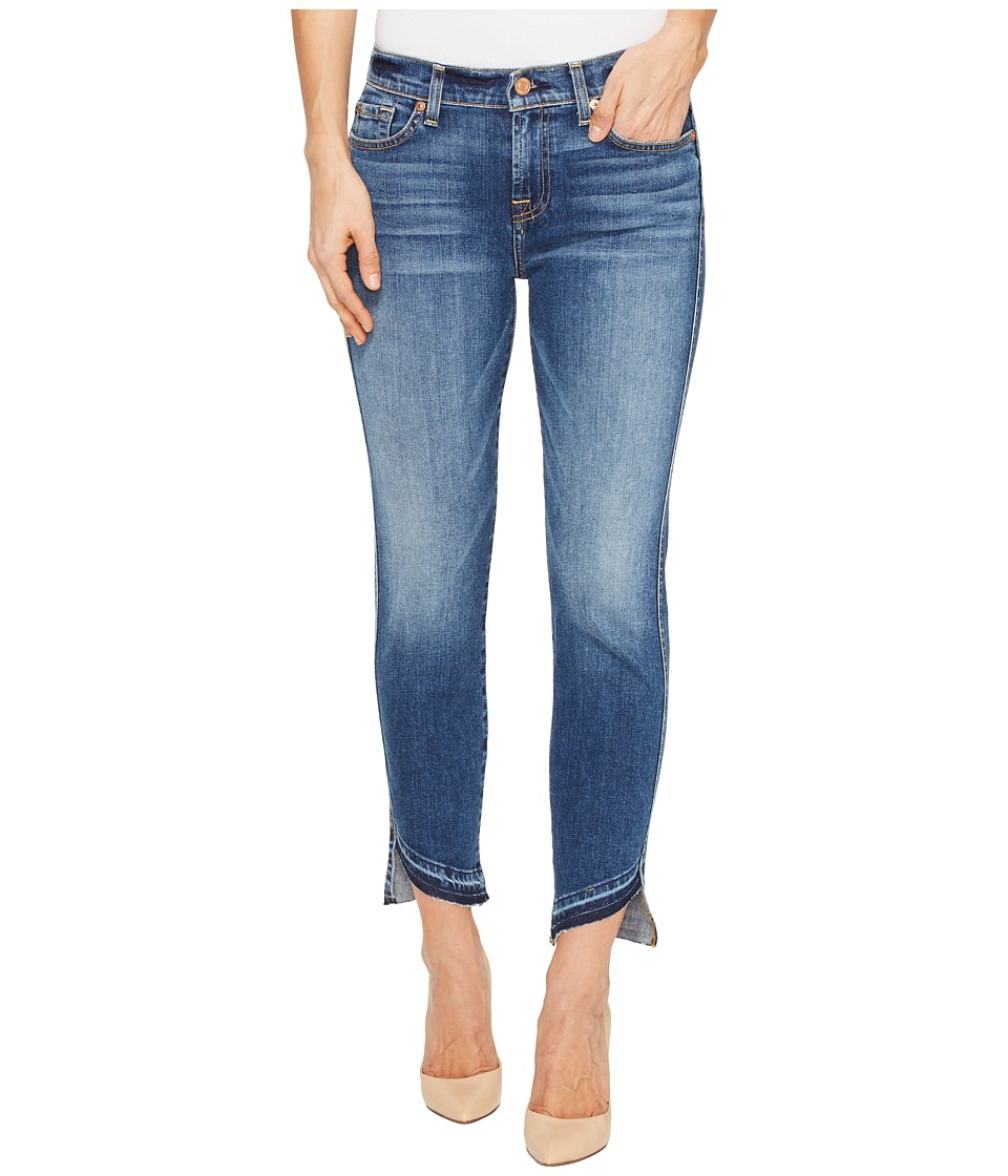 7 For All Mankind - Roxanne Ankle w/ Angled Hem in Serratoga Bay (Serratoga Bay) Women's Jeans
