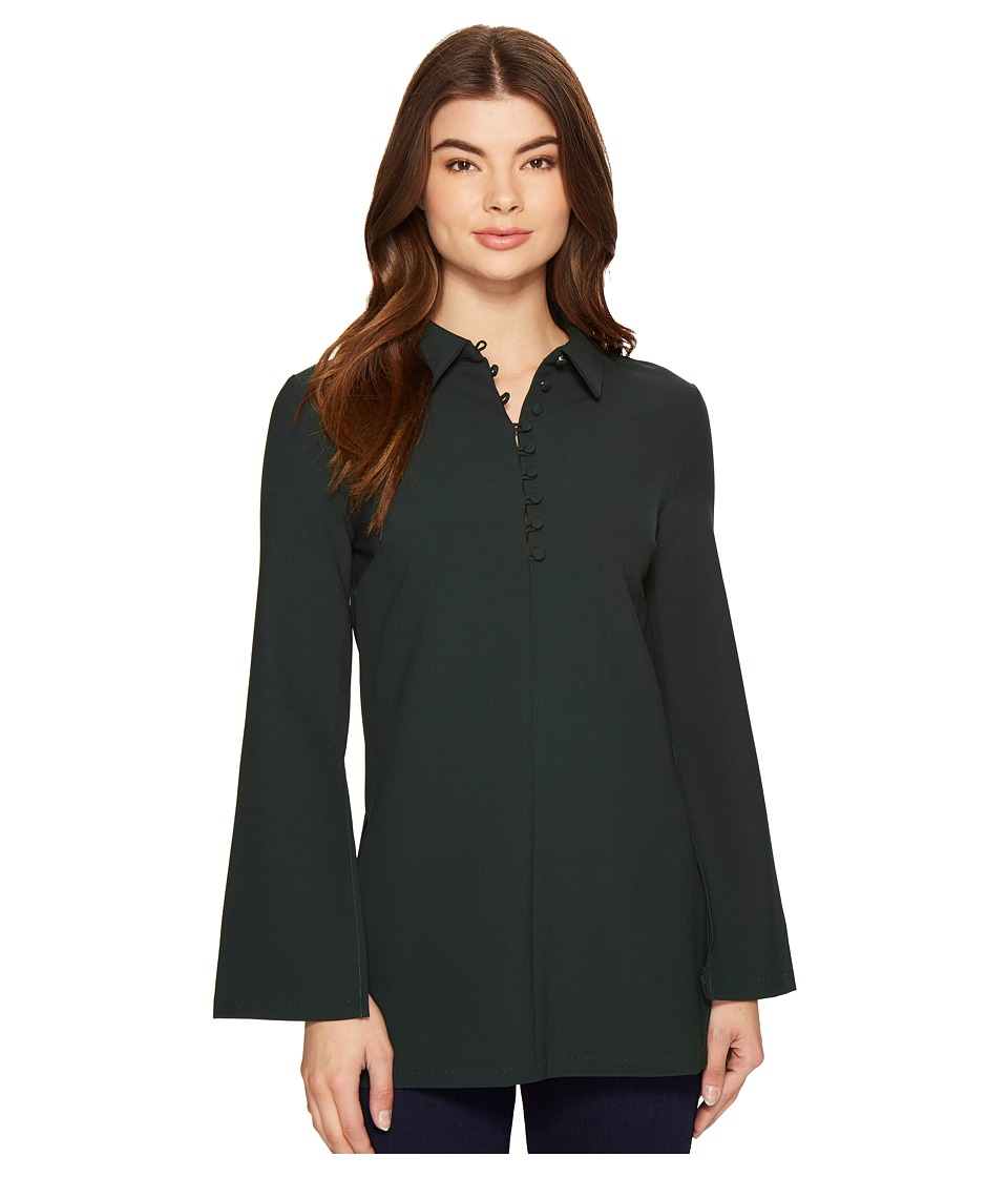 ROMEO & JULIET COUTURE - Button Up Shirtdress (Emerald) Women's Dress