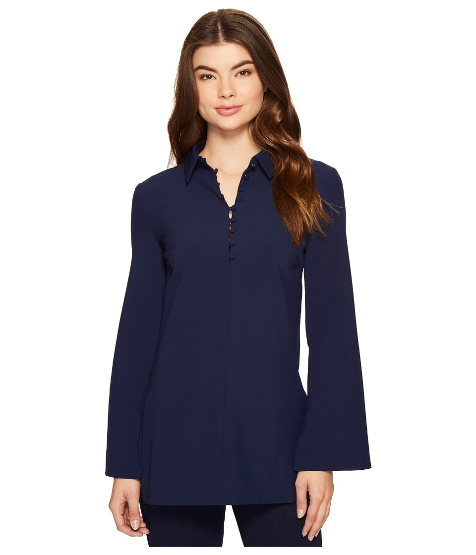ROMEO & JULIET COUTURE - Button Up Shirtdress (Navy) Women's Dress