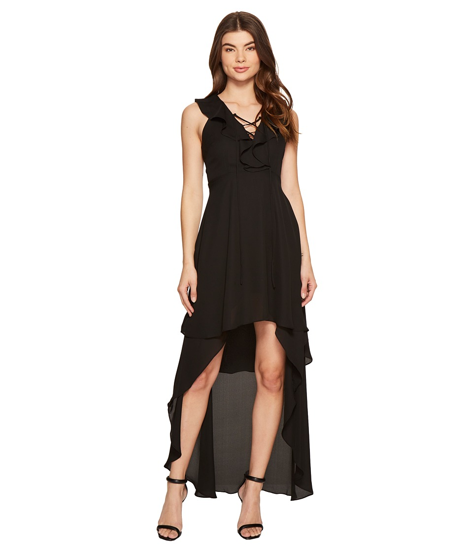 ROMEO & JULIET COUTURE - Cape Woven Dress (Black) Women's Dress