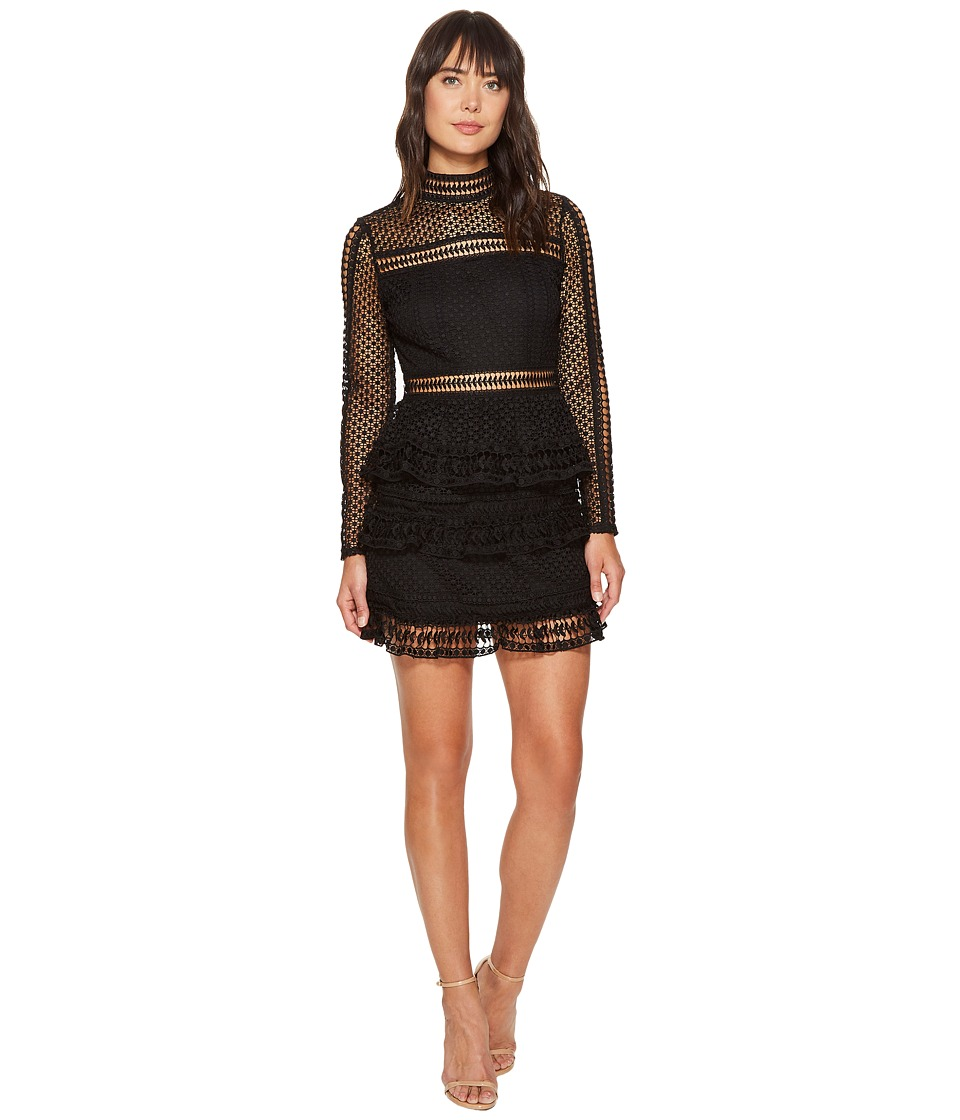 ROMEO & JULIET COUTURE - Mesh Woven Dress (Black) Women's Dress
