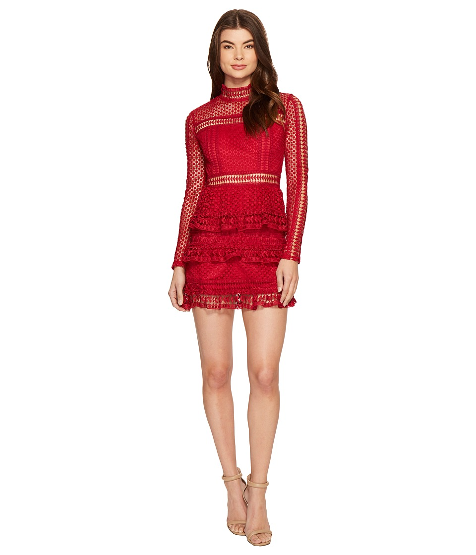 ROMEO & JULIET COUTURE - Mesh Woven Dress (Rugby) Women's Dress