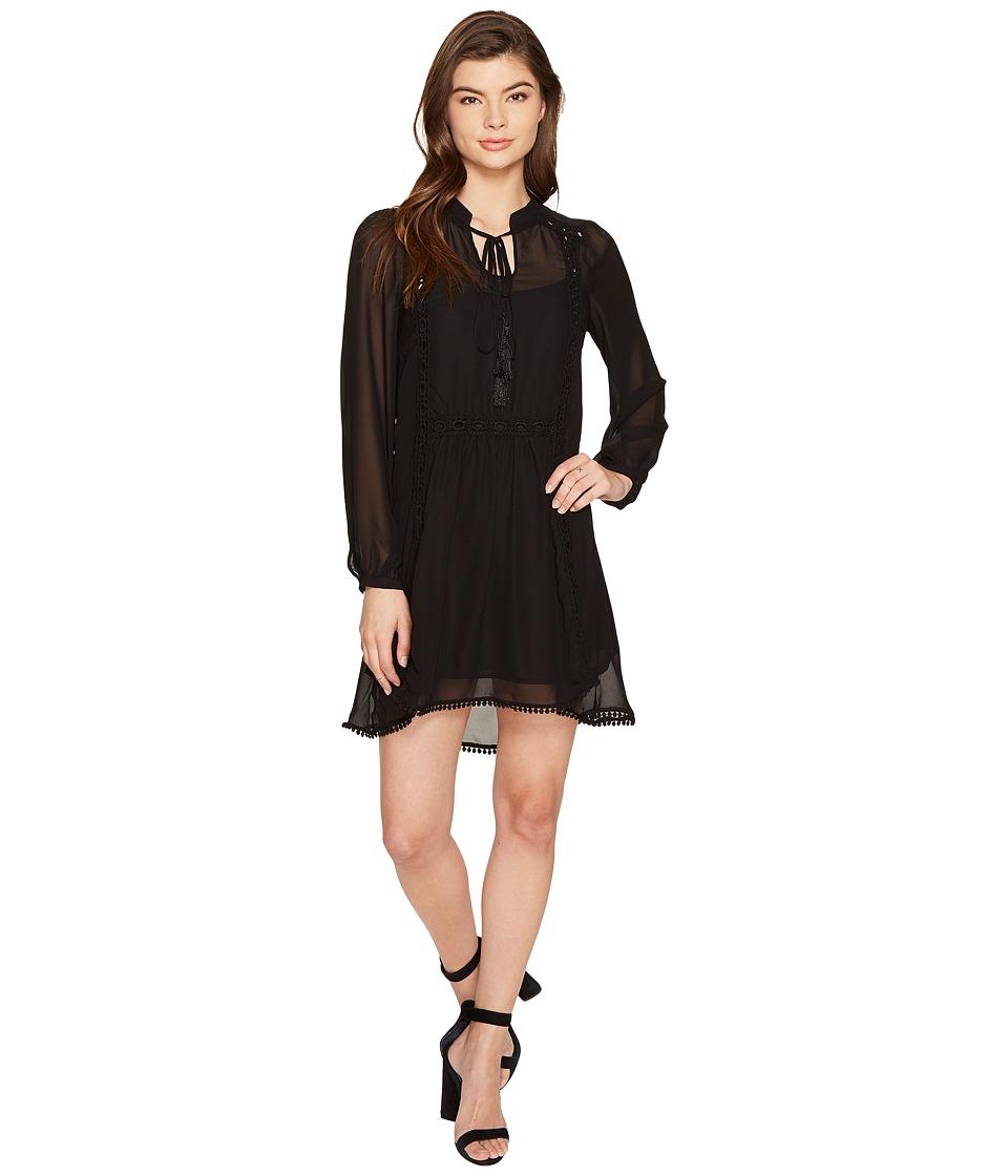 ROMEO & JULIET COUTURE Dress with Shoulder Trim (Black) Women