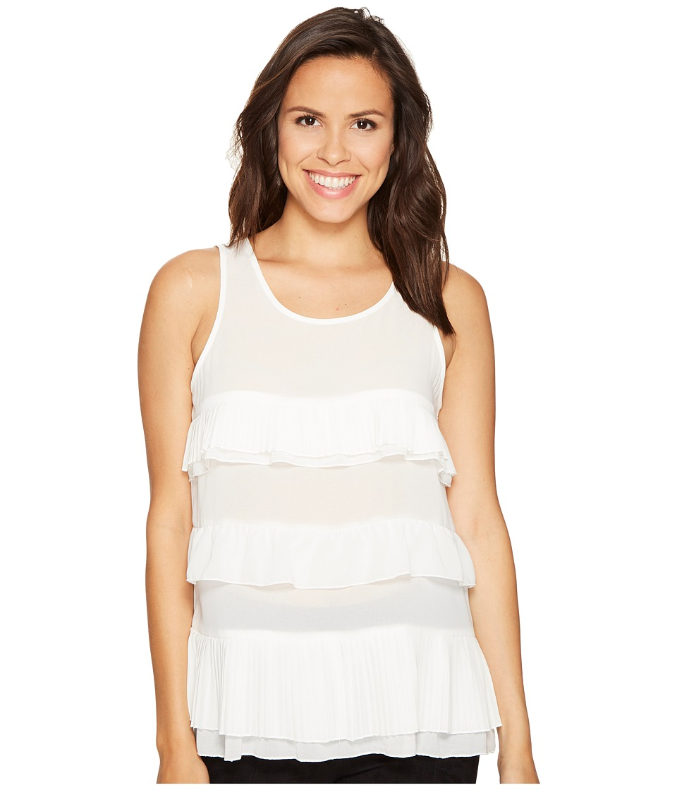 ROMEO & JULIET COUTURE - Ruffle Tier Top (Off-White) Women's Clothing