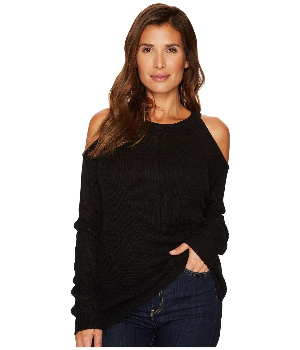 Sanctuary Riley Bare Shoulder Sweater (Black) Women