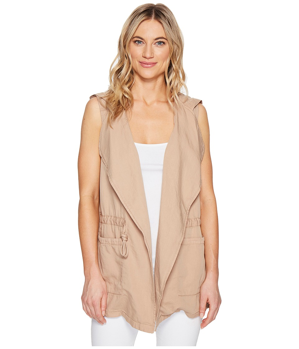 ROMEO & JULIET COUTURE - Sleeveless Hood Jacket (Khaki) Women's Coat
