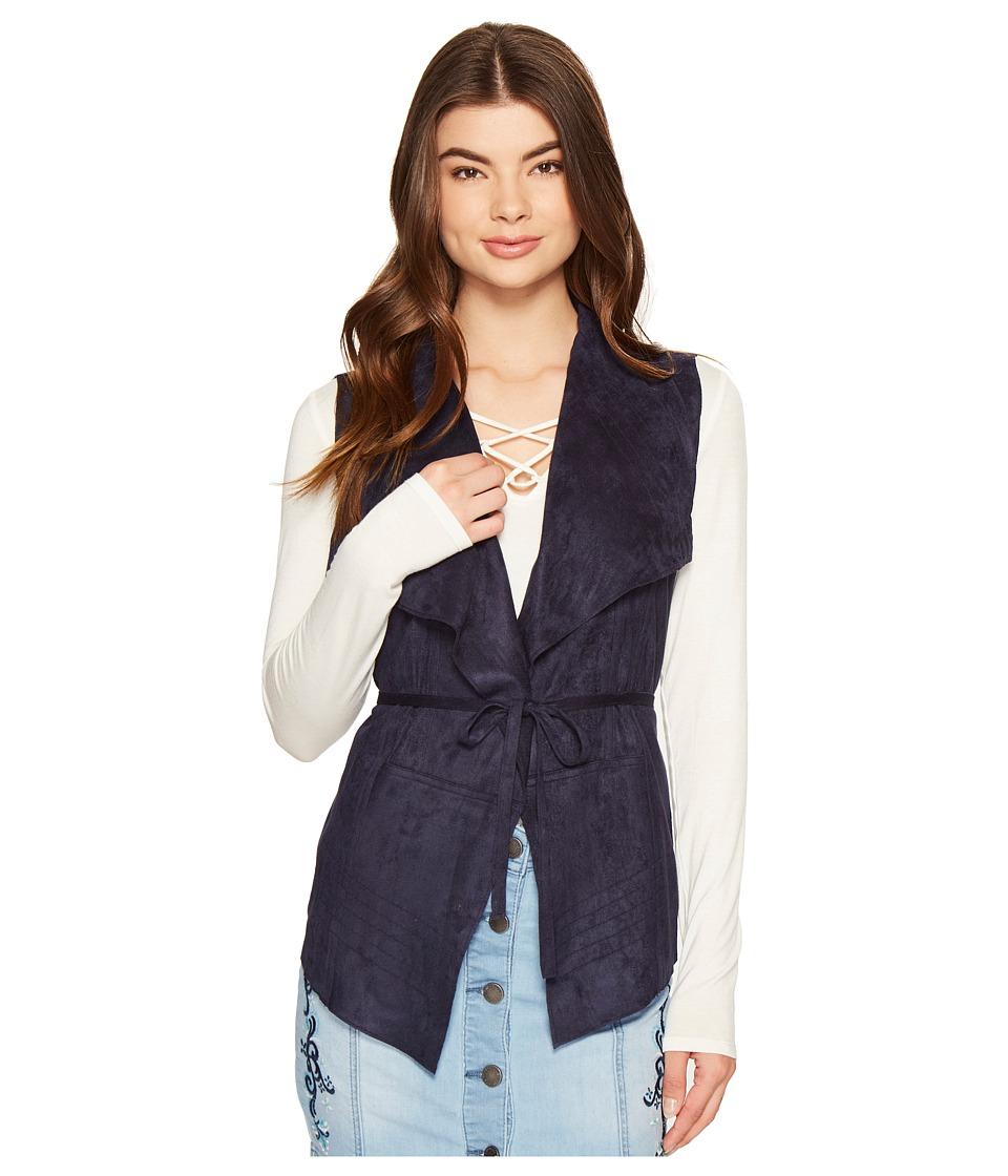 ROMEO & JULIET COUTURE - Suede Vest (Navy) Women's Vest