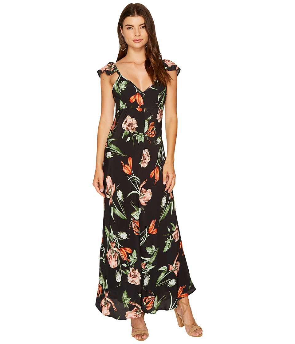 ASTR the Label Florentina Dress (Black Multi Floral) Women
