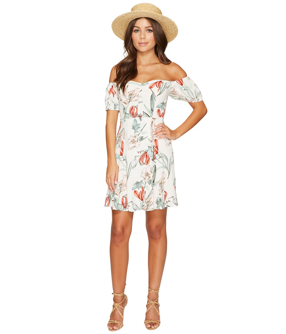 ASTR the Label Printed Floral Off Shoulder Dress (Blush Multi Floral) Women
