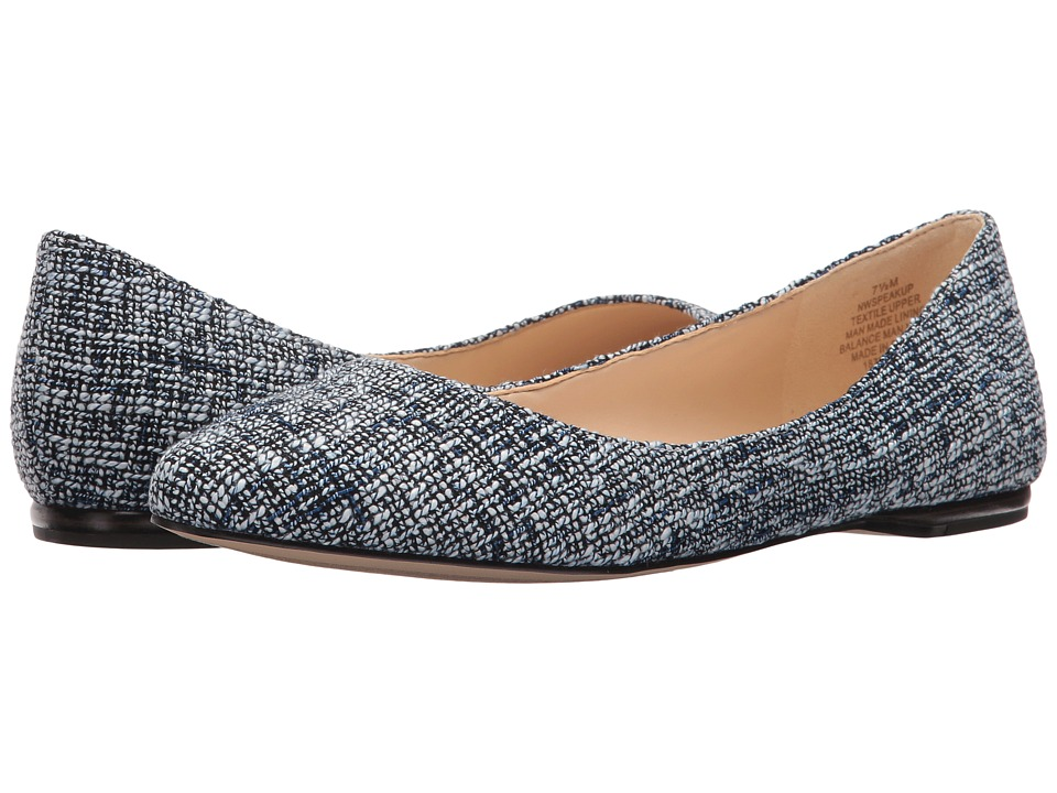 Nine West - SpeakUp (Navy Multi Fabric 1) Women's Dress Flat Shoes