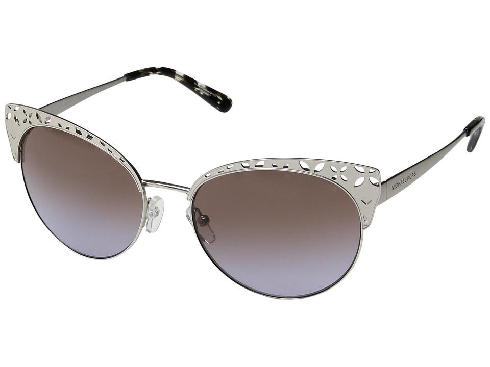 Michael Kors - Evy 0MK1023 56mm (Satin Silver Tone/Brown/Purple Gradient) Fashion Sunglasses