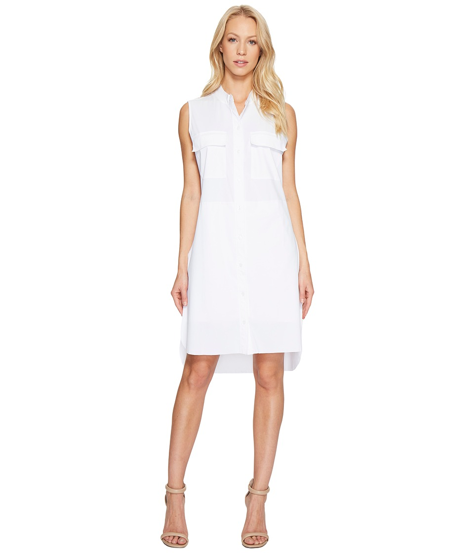 Lysse - Archie Stretch Microfiber Shirtdress (White) Women's Dress