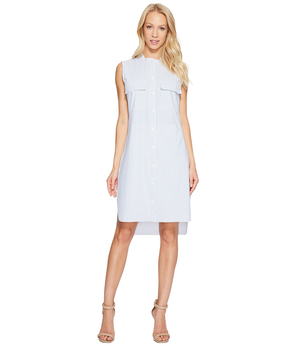 Lysse - Archie Stretch Microfiber Shirtdress (Stripe) Women's Dress